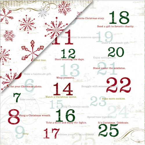 Deja Views - C-Thru - Little Yellow Bicycle - 25 Days of Christmas Collection - 12 x 12 Double Sided Metallic Paper - Countdown to Christmas, CLEARANCE