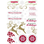 Deja Views - C-Thru - Little Yellow Bicycle - 25 Days of Christmas Collection - Metallic Rub Ons - Cardmaking, CLEARANCE
