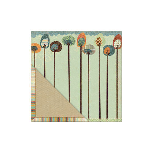 Little Yellow Bicycle - Acorn Hollow Collection - 12 x 12 Double Sided Paper - Tallest Trees