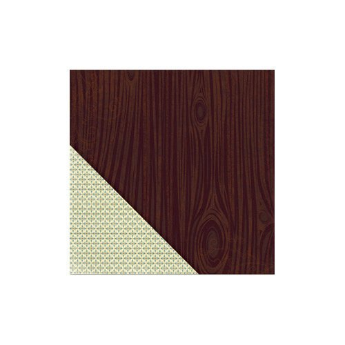 Little Yellow Bicycle - Acorn Hollow Collection - 12 x 12 Double Sided Paper - Walnut Woodgrain