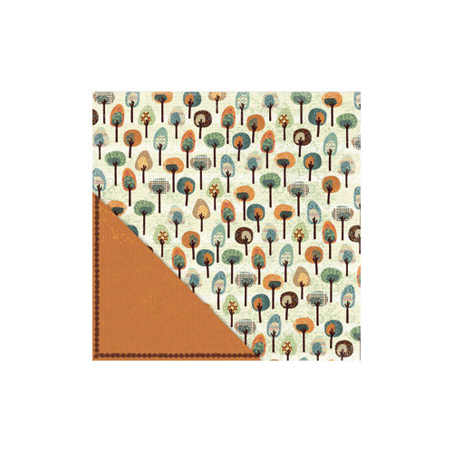 Little Yellow Bicycle - Acorn Hollow Collection - 12 x 12 Double Sided Paper - Fancy Forest