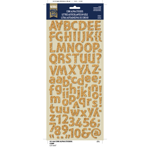 Little Yellow Bicycle - Alphabet Stickers - Cork