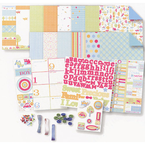 Deja Views - C-Thru - Baby Collection - 8 x 8 Album Kit - Baby Boy