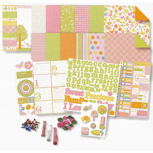 Deja Views - C-Thru - Baby Collection - 8 x 8 Album Kit - Baby Girl