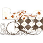 Deja Views - C-Thru - Little Yellow Bicycle - Autumn Bliss Collection - Clear Cuts - Metallic Panels, CLEARANCE