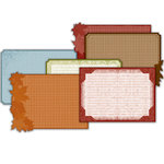 Deja Views - C-Thru - Little Yellow Bicycle - Autumn Bliss Collection - Embossed Photo Mats - Decorative Edge, BRAND NEW