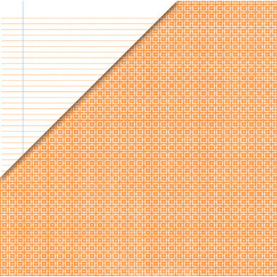 Deja Views - C-Thru - Little Yellow Bicycle - Baby Safari Boy Collection - 12 x 12 Double Sided Paper - Geometric Orange