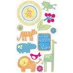 Deja Views - C-Thru - Little Yellow Bicycle - Baby Safari Boy Collection - Varnish Chipboard Pieces, CLEARANCE