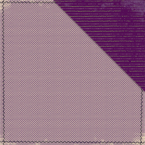 Deja Views - C-Thru - Little Yellow Bicycle - Booville Collection - Halloween - 12 x 12 Double Sided Paper - Purple Micro Check