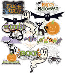 Deja Views - C-Thru - Little Yellow Bicycle - Booville Collection - Halloween - Clear Cut with Glitter Accents - Shapes