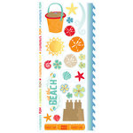 Deja Views - C-Thru - Little Yellow Bicycle - Boardwalk Collection - Clear Stickers with Glitter Accents, CLEARANCE