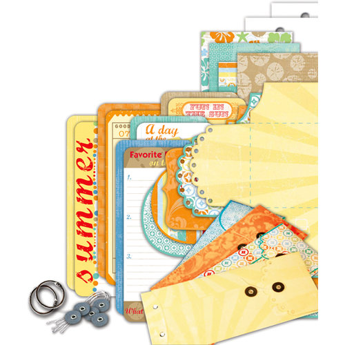 Deja Views - C-Thru - Little Yellow Bicycle - Boardwalk Collection - Envelope Album Kit, CLEARANCE