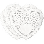 Deja Views - C-Thru - Little Yellow Bicycle - Cupcake Love Collection - Heart Paper Doilies