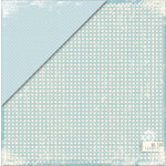 Deja Views - C-Thru - Little Yellow Bicycle - Clothesline Collection - 12 x 12 Double Sided Paper - Sky Blue Check, CLEARANCE