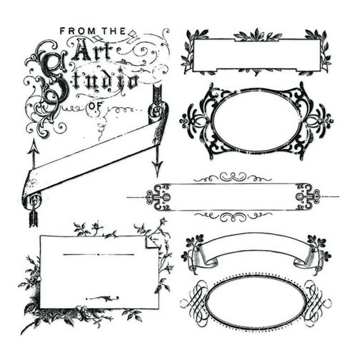Clear Acrylic Stamps - Vintage Banners by Little Yellow Bicycle
