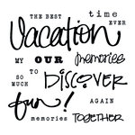Clear Acrylic Stamps - Vacation by Little Yellow Bicycle