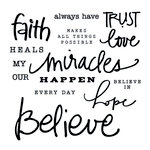 Clear Acrylic Stamps - Faith by Little Yellow Bicycle
