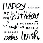 Clear Acrylic Stamps - Birthday by Little Yellow Bicycle