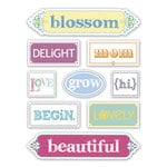 Deja Views - C-Thru - Little Yellow Bicycle - Elizabeth Park Collection - Canvas Stickers - Words