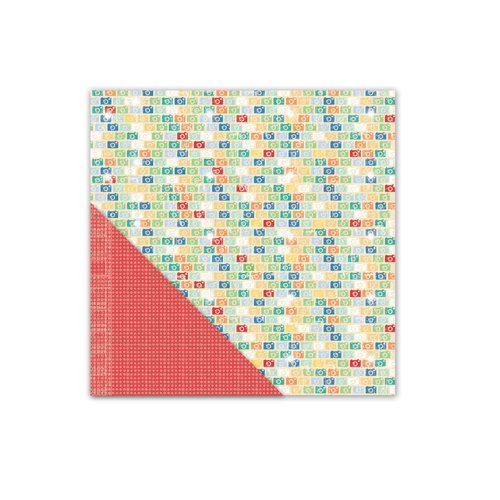 Little Yellow Bicycle - Escape Collection - 12 x 12 Double Sided Textured Paper - Click - Multi