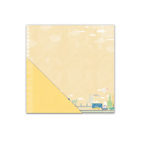 Little Yellow Bicycle - Escape Collection - 12 x 12 Double Sided Textured Paper - Big City