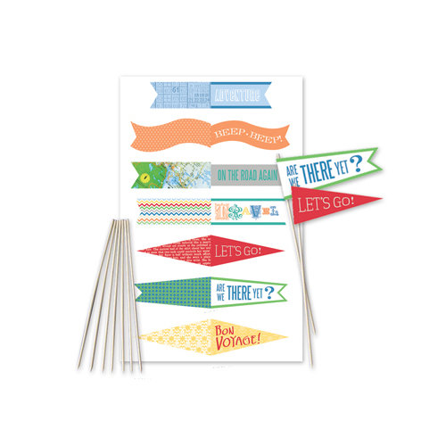 Little Yellow Bicycle - Escape Collection - Mini Flag Kit with Embossed Accents
