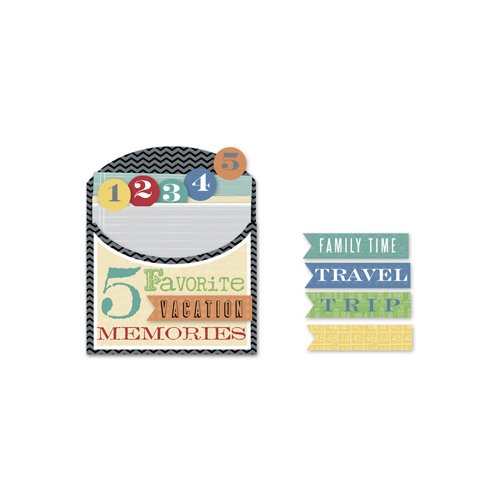 Little Yellow Bicycle - Escape Collection - 5 Things Pocket with Embossed Accents