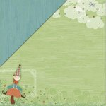 Little Yellow Bicycle - Fern and Forest Boy Collection - 12 x 12 Double Sided Paper - Outdoor Play