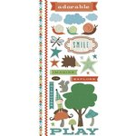 Little Yellow Bicycle - Fern and Forest Boy Collection - Cardstock Stickers with Embossed and Varnish Accents - Favorite Pieces