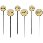 Little Yellow Bicycle - Fern and Forest Boy Collection - Wood Stick Pins