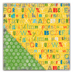 Deja Views - C-Thru - Little Yellow Bicycle - Head of the Class Collection - 12 x 12 Double Sided Textured Paper - Practice Your ABCs