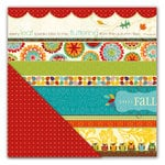 Deja Views - C-Thru - Little Yellow Bicycle - Hello Fall Collection - 12 x 12 Double Sided Paper - Happy Fall