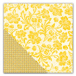 Deja Views - C-Thru - Little Yellow Bicycle - Hello Fall Collection - 12 x 12 Double Sided Paper - Golden Flourish