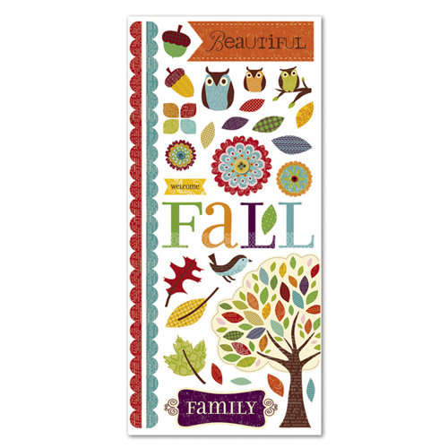 Deja Views - C-Thru - Little Yellow Bicycle - Hello Fall Collection - Embossed Cardstock Die Cuts - Favorite Pieces