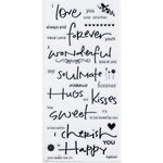 Deja Views - C-Thru - Little Yellow Bicycle - Clear Stickers - Word - Love