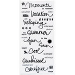 Deja Views - C-Thru - Little Yellow Bicycle - Clear Stickers - Word - Summer