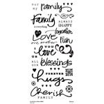 Little Yellow Bicycle - Clear Word Stickers - Family