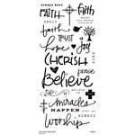 Little Yellow Bicycle - Clear Word Stickers - Faith
