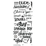 Little Yellow Bicycle - Clear Word Stickers - Guy