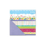 Deja Views - C-Thru - Little Yellow Bicycle - Hello Spring Collection - 12 x 12 Double Sided Textured Paper - Garden Rows