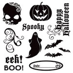 Deja Views - C-Thru - Little Yellow Bicycle - Frightful Collection - Halloween - Clear Stamp Set, CLEARANCE