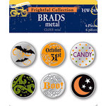 Deja Views - C-Thru - Little Yellow Bicycle - Frightful Collection - Halloween - Metal Brads, CLEARANCE