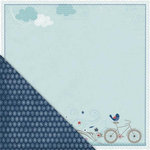 Little Yellow Bicycle - Just Because Collection - 12 x 12 Double Sided Paper - Bicycle Bliss