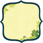 Deja Views - C-Thru - Little Yellow Bicycle - Lucky Me Collection - 12 x 12 Decorative Edge Paper with Glossy Accents - Clover