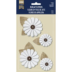 Naturals Collection - Burlap Stickers with Button Accents - Daisy by Little Yellow Bicycle