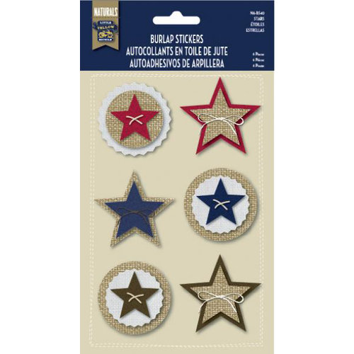 Naturals Collection - Burlap Stickers - Stars by Little Yellow Bicycle
