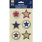 Little Yellow Bicycle - Naturals Collection - Burlap Stickers - Stars