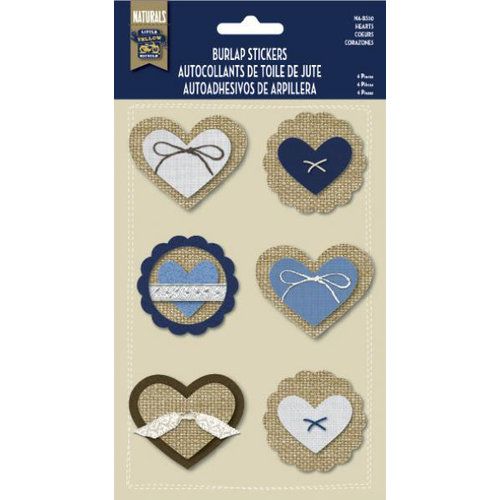 Naturals Collection - Burlap Stickers - Hearts by Little Yellow Bicycle