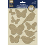 Naturals Collection - Burlap Stickers - Birds and Butterflies by Little Yellow Bicycle