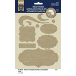 Naturals Collection - Burlap Stickers - Plates and Flourishes by Little Yellow Bicycle